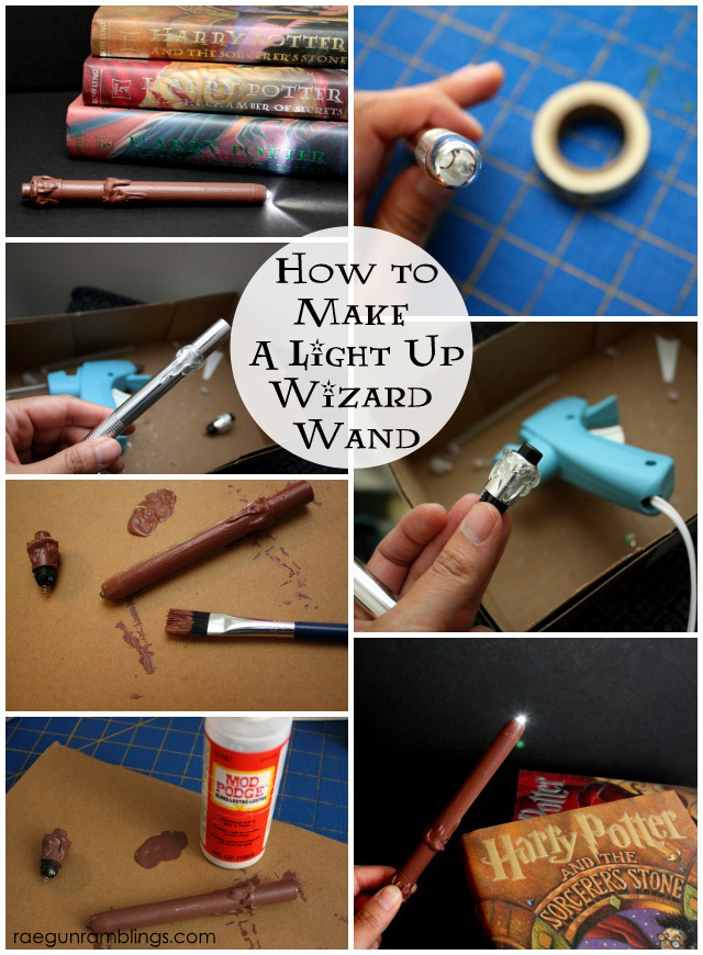 Step by step tutorial for a light up Harry Potter wand. Rae Gun Ramblings