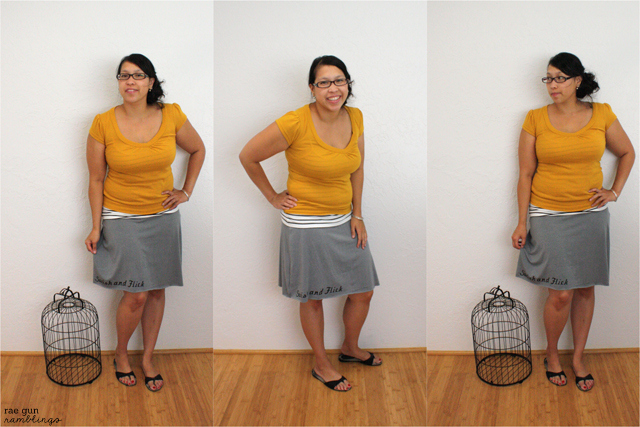 Harry Potter Inspired Swish and Flick Skirt at Rae Gun Ramblings