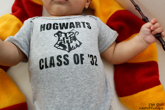 Geeky Harry Potter onesie. Class of '32 Tutorial at Rae Gun Ramblings