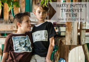 Boyish Harry Potter Tee tutorial