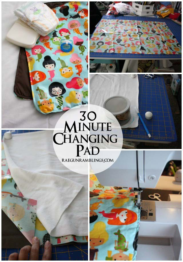 We use this diaper changing pad all the time. Why don't the sell them like this in stores. Great easy sewing tutorial