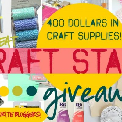HUGE Craft Stash Giveaway over 400$ Worth of Goodies