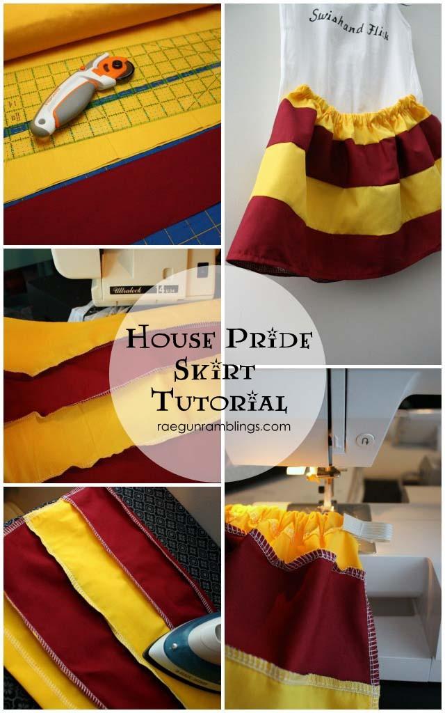 Harry Potter inspired House Pride skirt tutorial. Make one in just 20 minutes - Rae Gun Ramblings