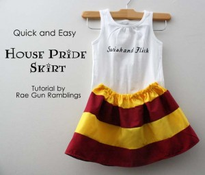 Cute 20 minute skirt tutorial - Rae GUn Ramblings