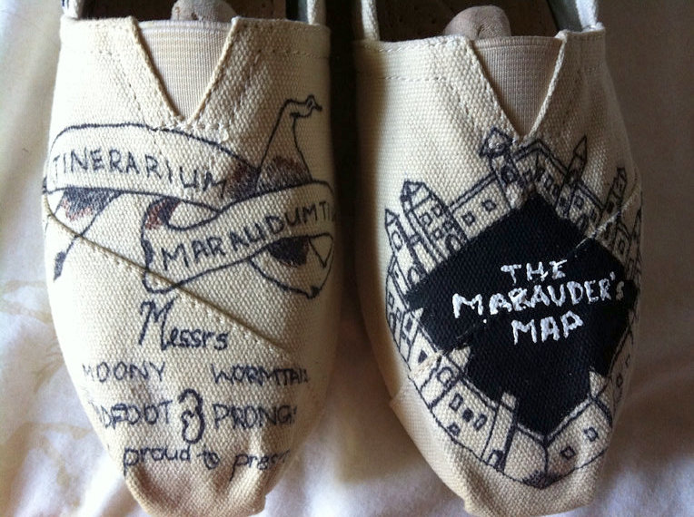 Marauder's Map Harry Potter Shoes - Rae Gun Ramblings