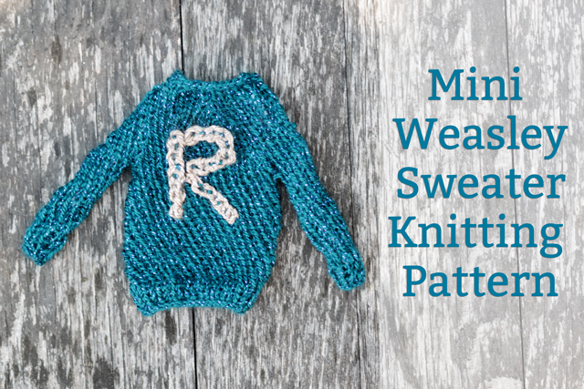 Free Mini Ronald Weasley Sweater Knitting Pattern #harrypotter - Rae Gun Ramblings