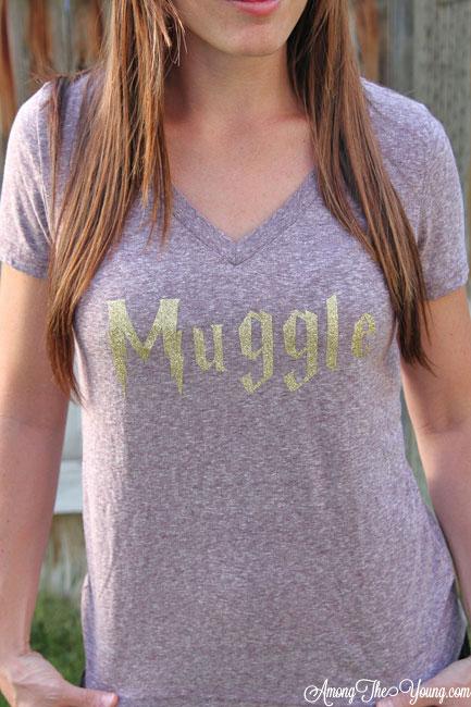 Glitter Muggle Shirt Tutorial