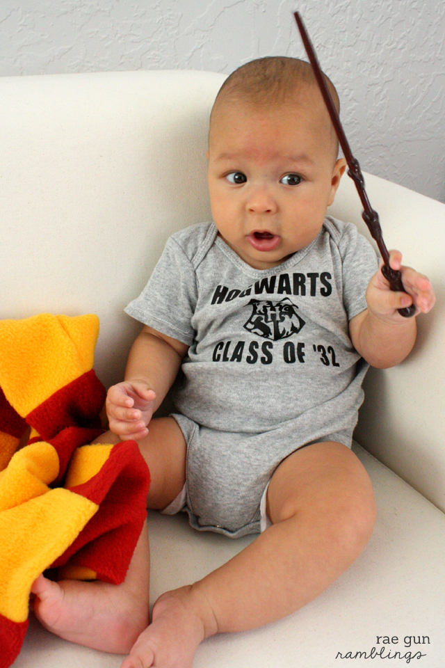 Fun Harry Potter inspired onesie. Class of '32 at Rae Gun Ramblings