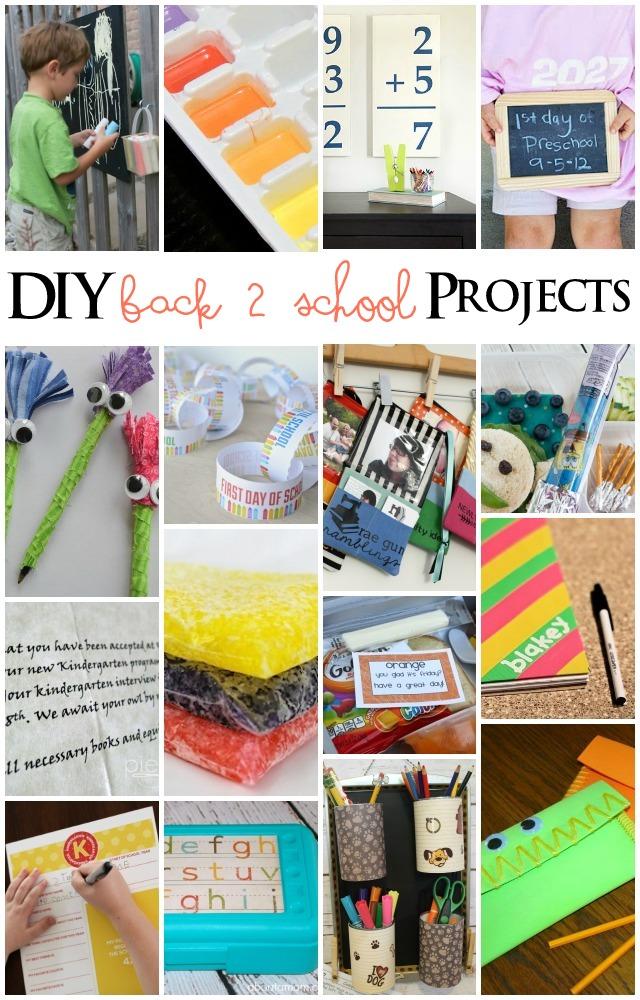 Diy back to school projects mmm 238 block party for School diy ideas