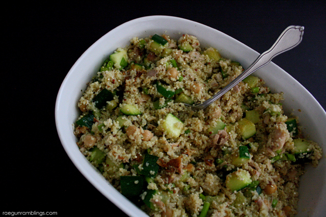 Lemon Zucchini Garbonzo Bean Quinoa Salad Recipe