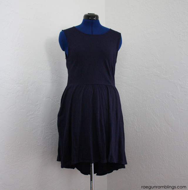 high-low dress refashion - Rae Gun Ramblings