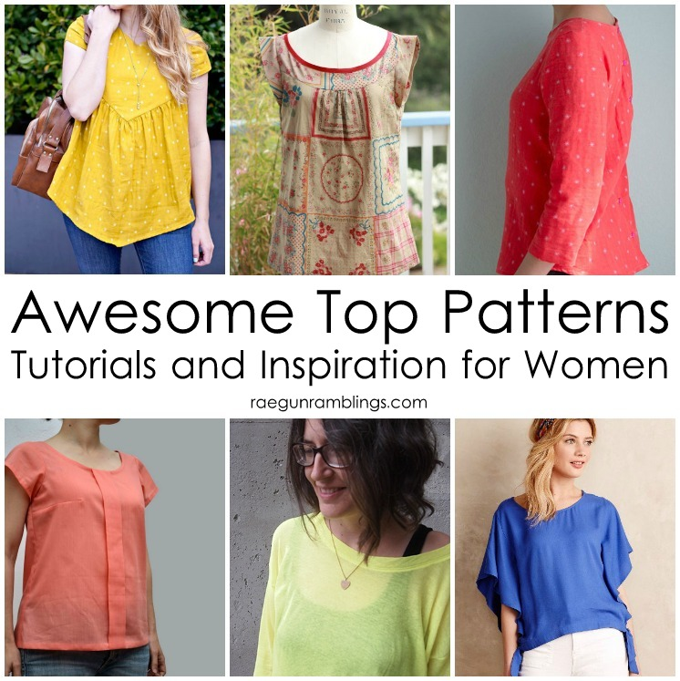 Awesome Tops Sewing Patterns And Inspiration And The Return Of Sew