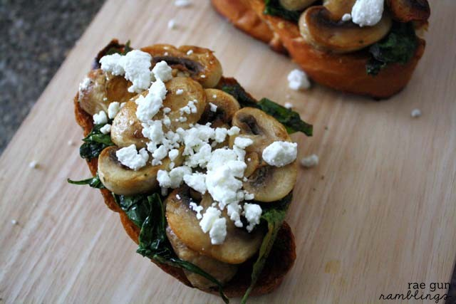 Guest Post: Spinach and Mushroom Bruschetta - Domestic ...