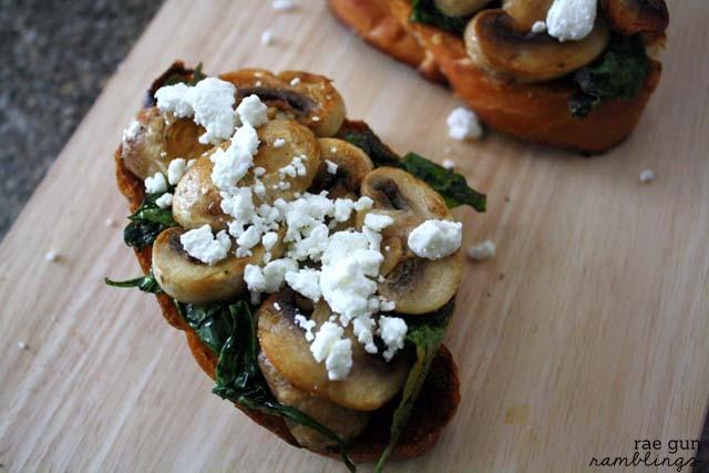 Spinach Mushroom Toast-007s