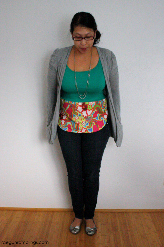 Turn any top into a fashion statement with just a bit of fabric and 15 minutes. Free tutorial at Rae Gun Ramblings