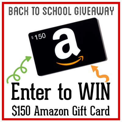 Back to School Giveaway 150$ Amazon Gift Card