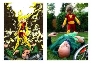 Dark Phoenix vs. Professor X DIY Costume remake - Rae Gun Ramblings