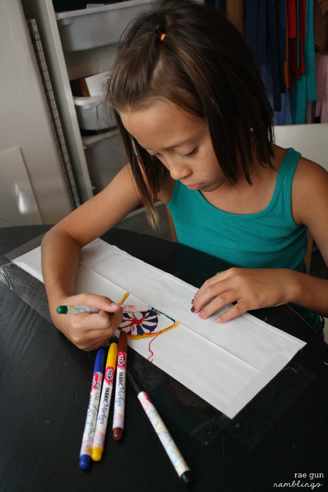 Convert kids art into fabric designs for their own clothes or unique gifts - Rae Gun Ramblings