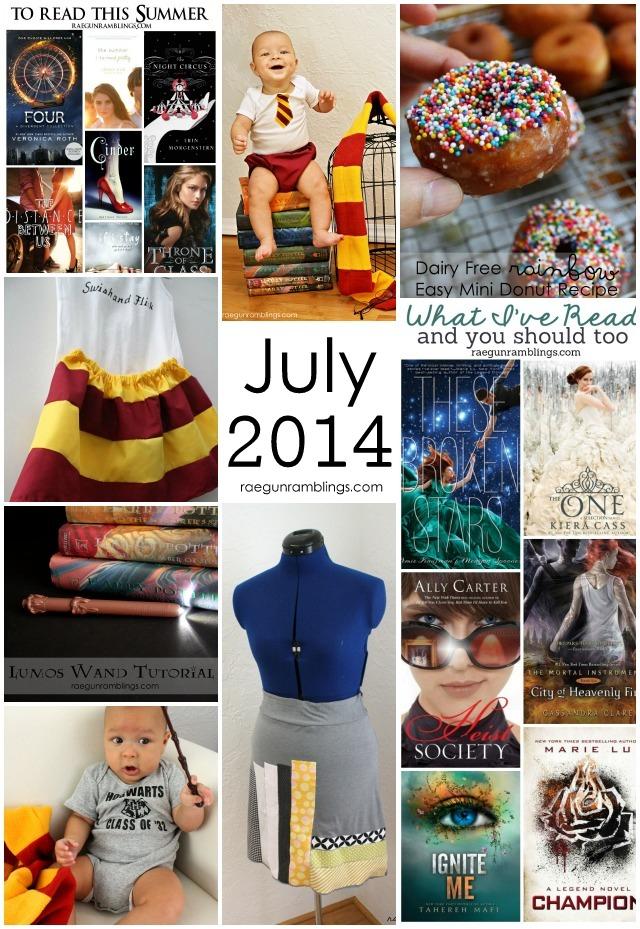 Eat, Read, and Make July 2014 at Rae Gun Ramblings