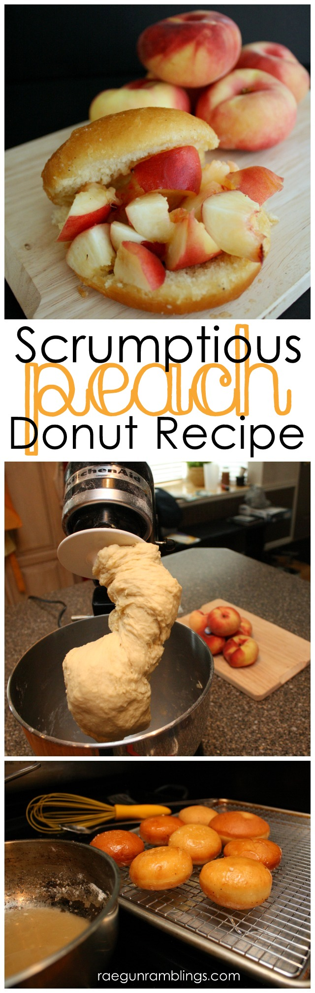 Great The Donut Man peach donut knock-off recipe. Super yummy at Rae Gun Ramblings