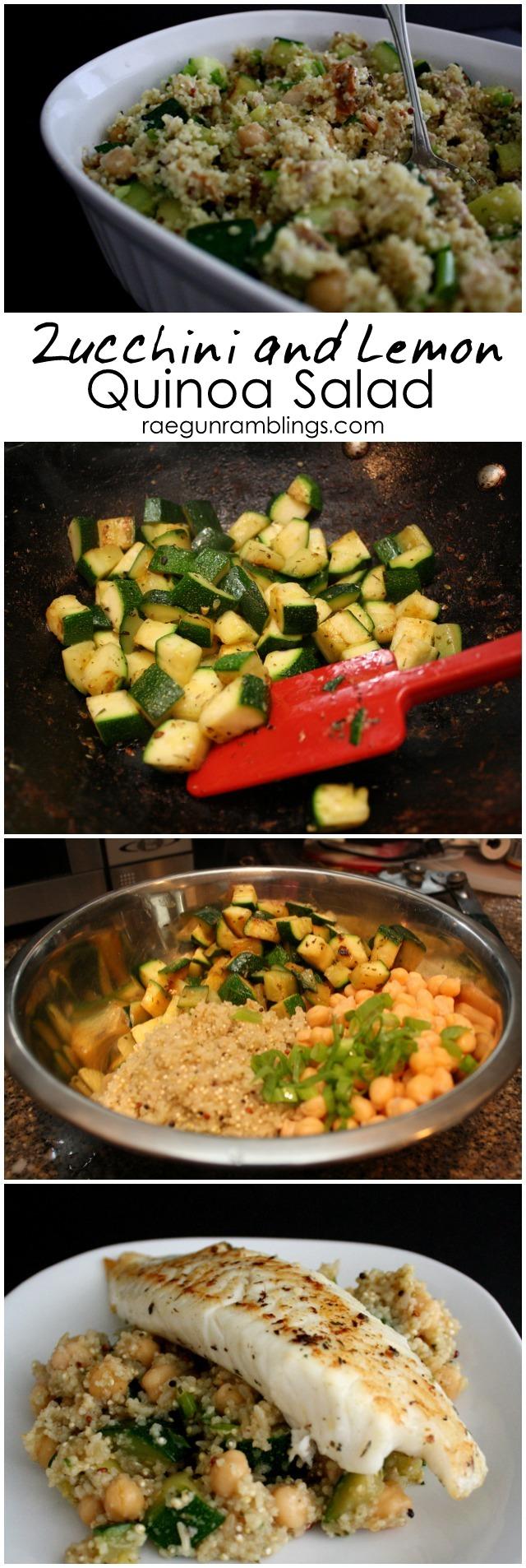 Delicious and fast zucchini quinoa salad recipe - Rae Gun Ramblings