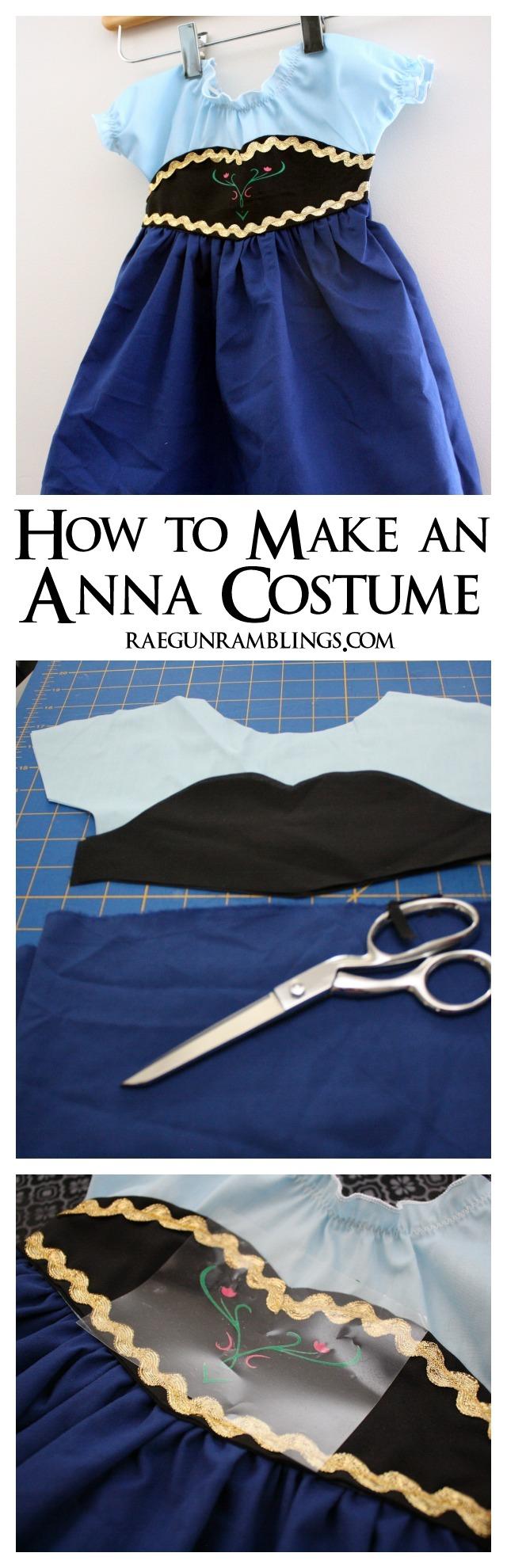 DIY Frozen Anna Costume Tutorial - Rae Gun Ramblings