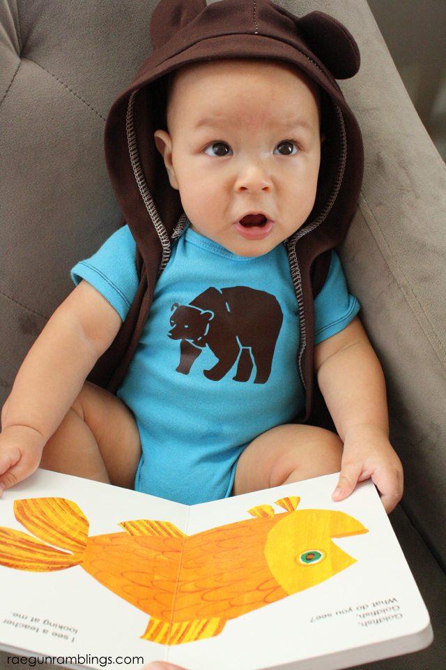 Brown Bear book and matching outfit - Rae GUn Ramblings