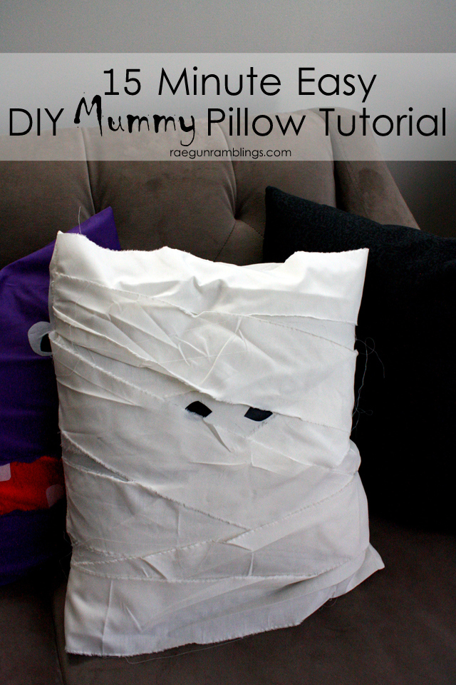 Cute Potterbarn Mummy Pillow Knock off - Rae Gun Ramblings
