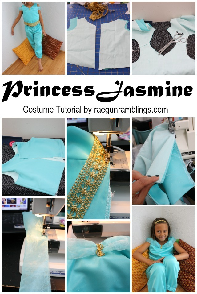 Step by step instructions for making a Princess Jasmine Costume - Rae Gun Ramblings