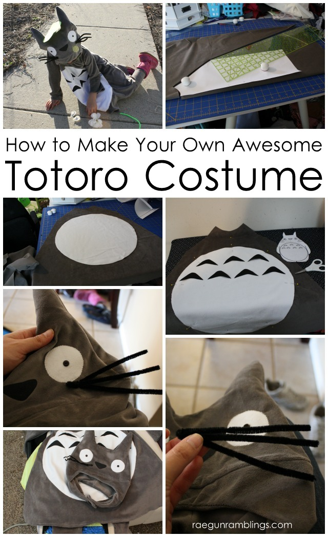 Step by step instructions for how to make a Totoro costume - Rae Gun Ramblings