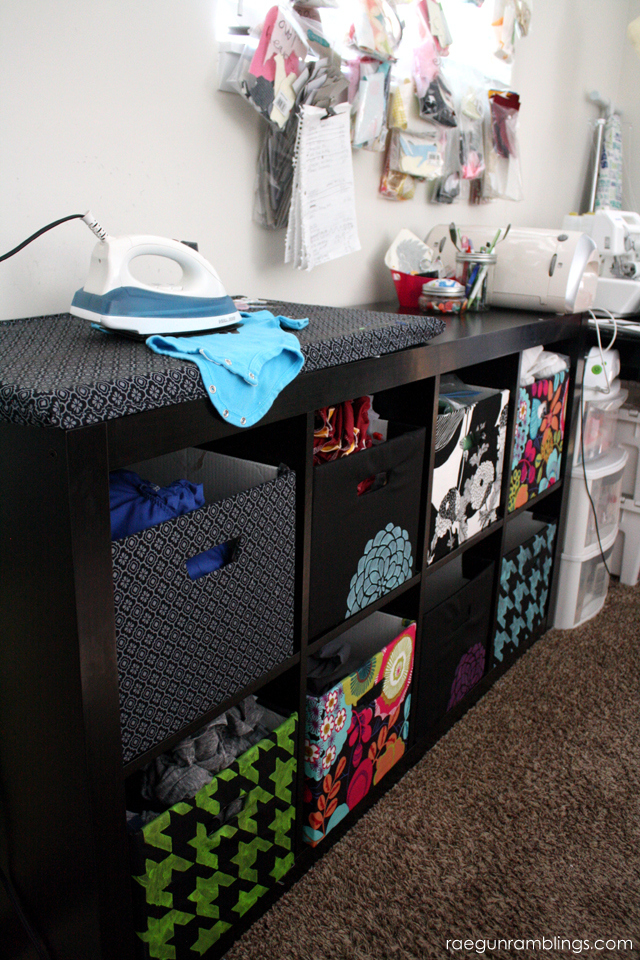 DIY Fabric Covered boxes that fit in Ikea shelves - Rae Gun Ramblings
