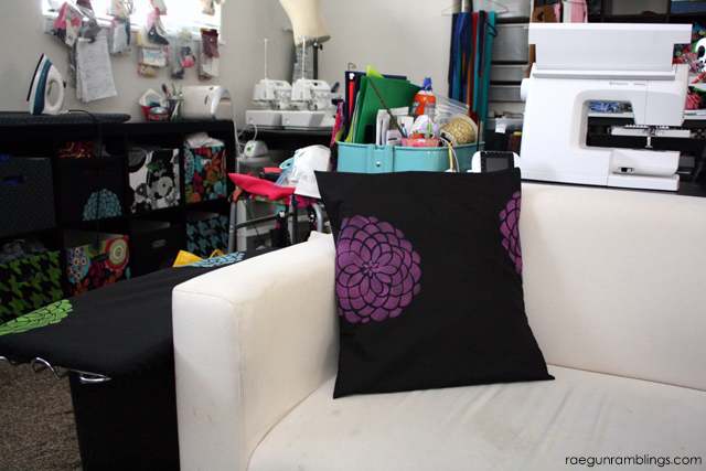 How to stencil fabric and a tutorial for how to make an ironing board cover - Rae Gun Ramblings