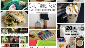 I want to try these recipes, tutorials and check out these books. Eat Make Read Aug 2014- Rae Gun Ramblings