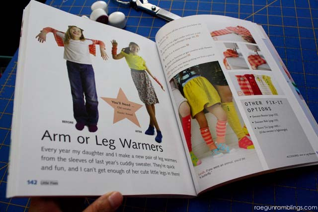 Turn sleeves into leg warmers and arm warmers - Rae Gun Ramblings