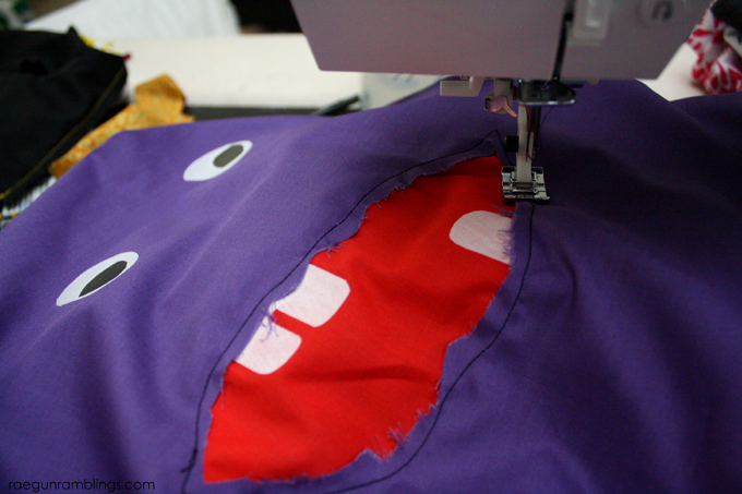How to make an easy Monster Pillow case - Rae Gun Ramblings