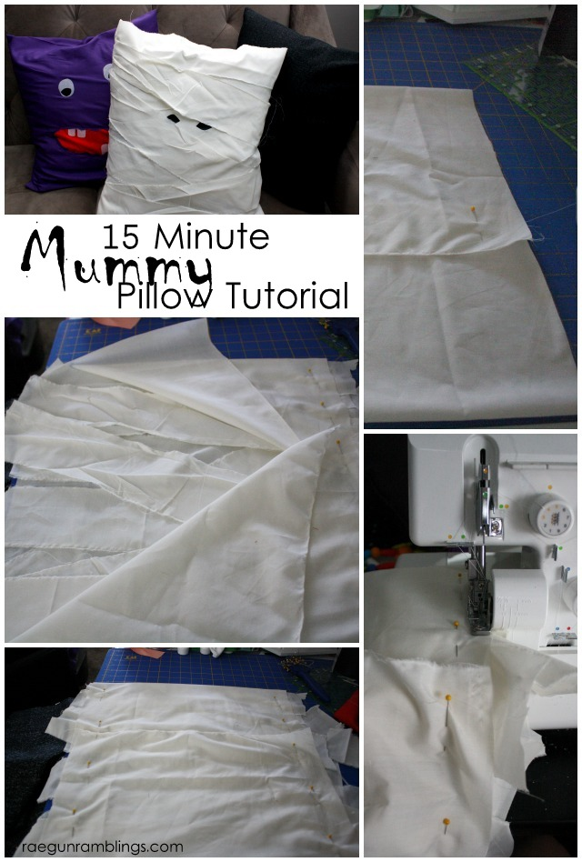 How to make an easy Mummy pillow case for halloween - Rae Gun Ramblings