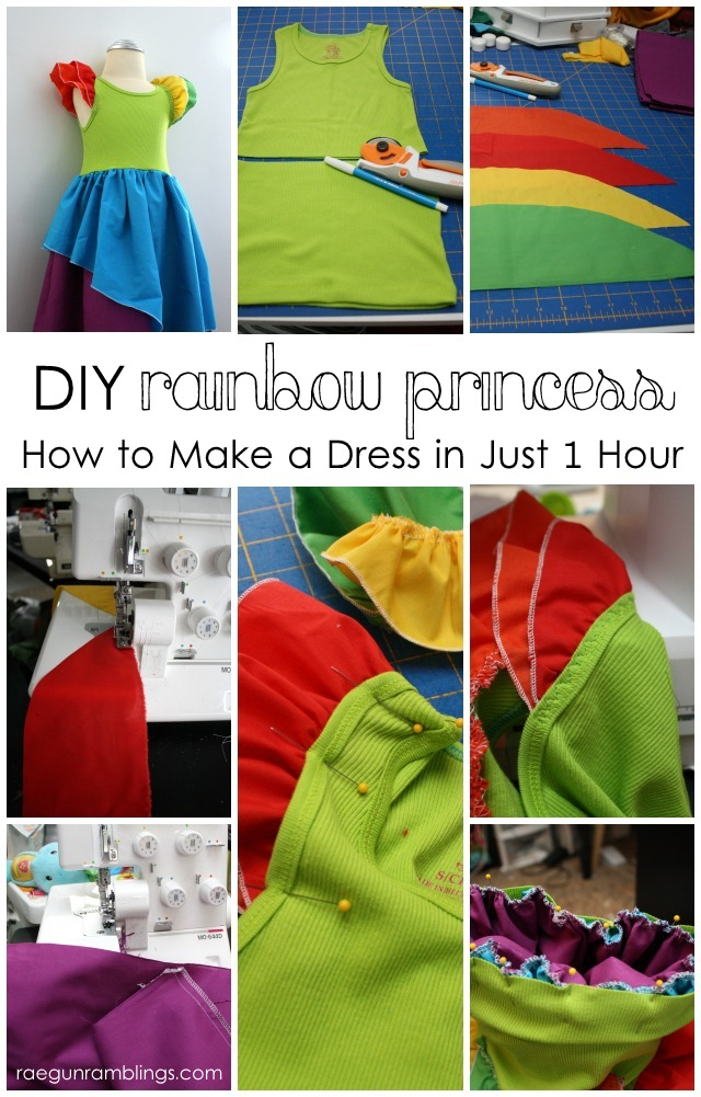 Rainbow Princess dress from a tank top - Rae Gun Ramblings