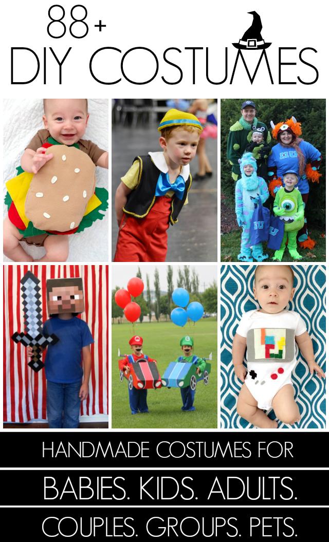 collage of costumes hamburger Pinocchio video games
