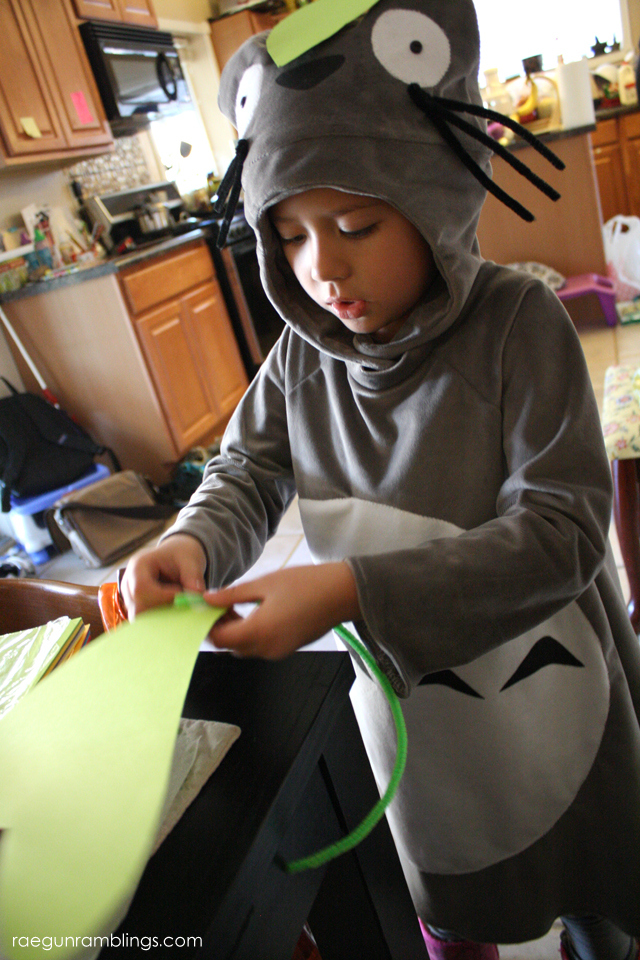 How to make a Totoro costume and leaves too - Rae Gun Ramblings