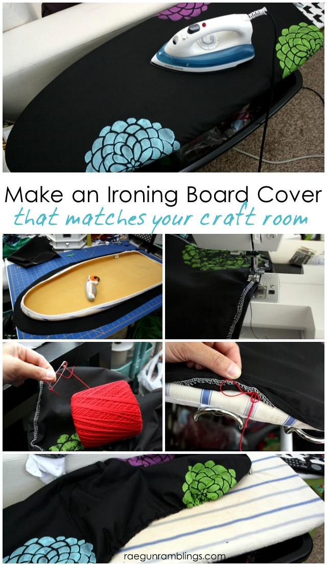 How to make an ironing board cover. Perfect if you can't find one that you like or want it to make your laundry room or craft room - Rae Gun Ramblings
