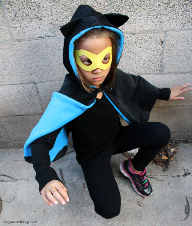 How to make an easy Bat Girl Costume - Rae Gun Ramblings