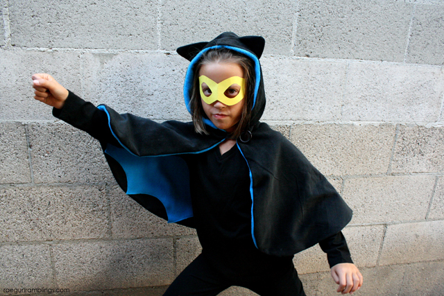 Super cute and easy Bat Girl cape costume - Rae Gun Ramblings