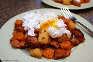 Super easy and yummy one pan sweet potato and kielbasa has - Rae Gun Ramblings