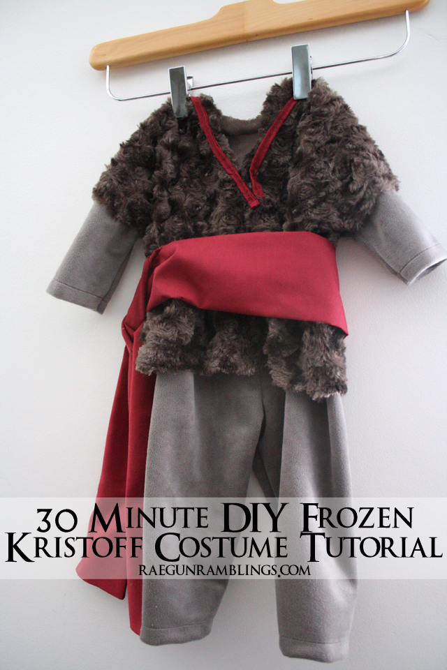 Super easy and quick Frozen Kristoff Costume Tutorial