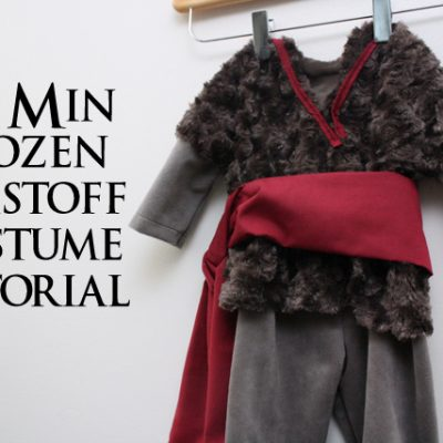 30 Minute Frozen Baby Kristoff Costume Tutorial