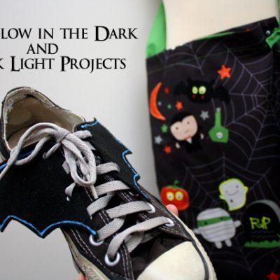 DIY Glow in the Dark Shoe Bat Wing and Trick or Treat Bag