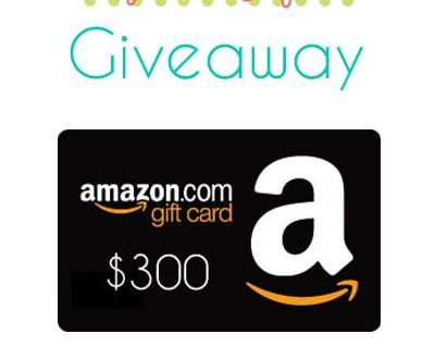 Amazon Gift Card Giveaway 300$