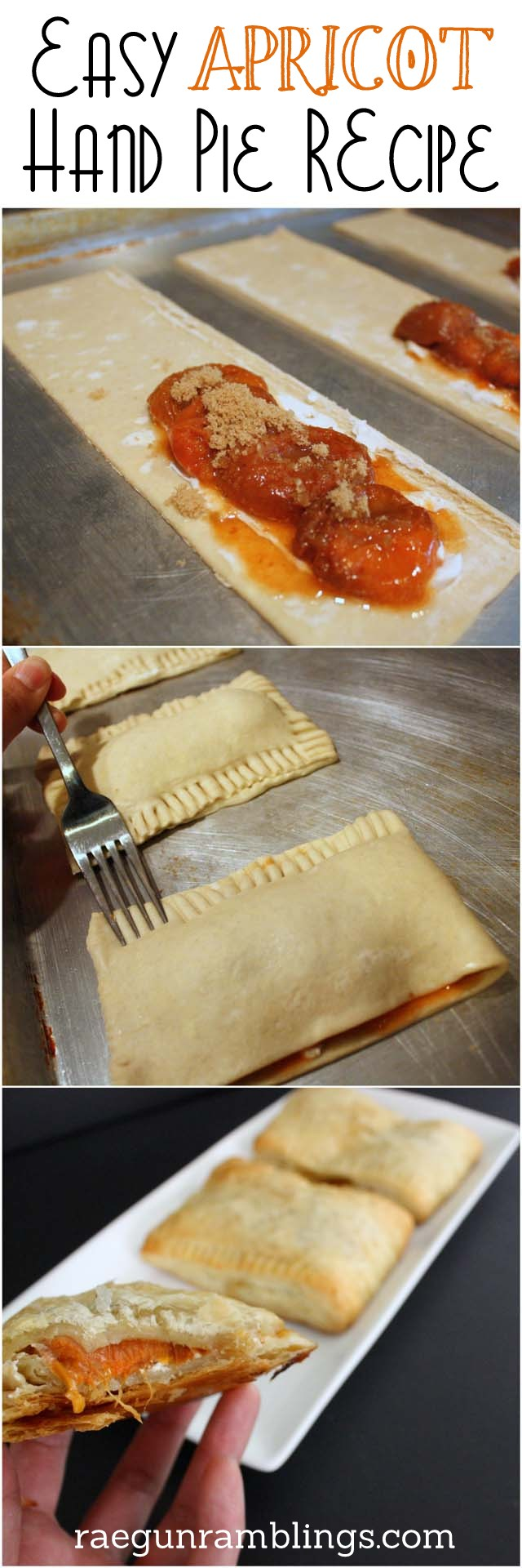 Super easy and delicious apricot hand pie recipe - Rae Gun Ramblings