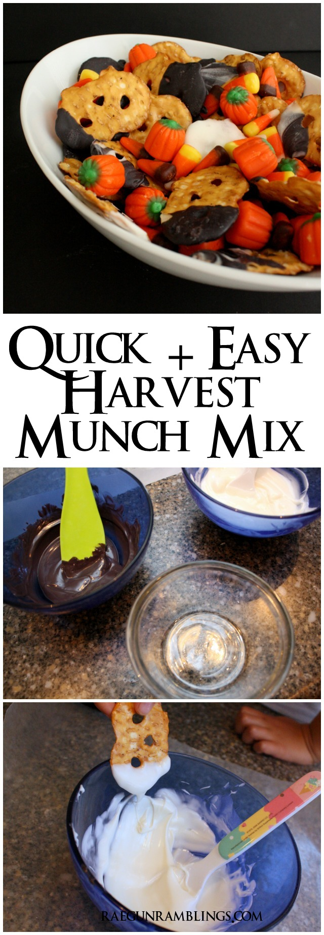 Quick and easy snack mix for fall, Halloween or Thanksgiving - Rae Gun Ramblings
