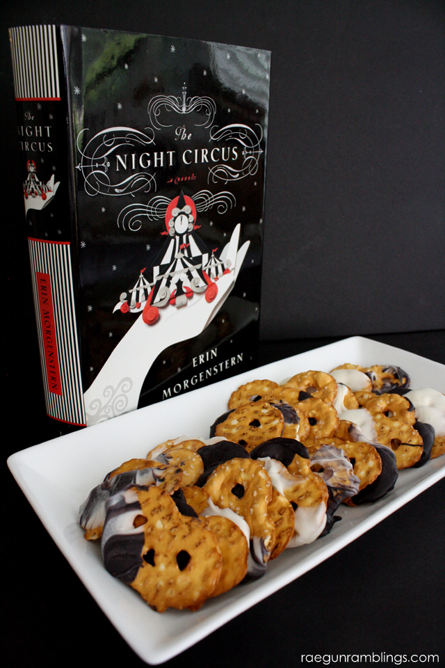 THe Night Circus inspired marble dipped chocolate pretzels recipe - Rae Gun Ramblings